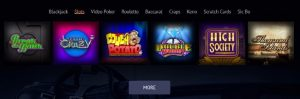 Spin Palace casino game types