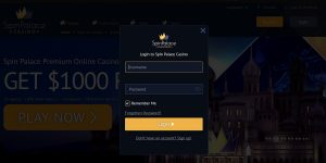 Login and play Spin Palce online casino games