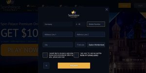 Spin Palace casino regestrtion and open new account